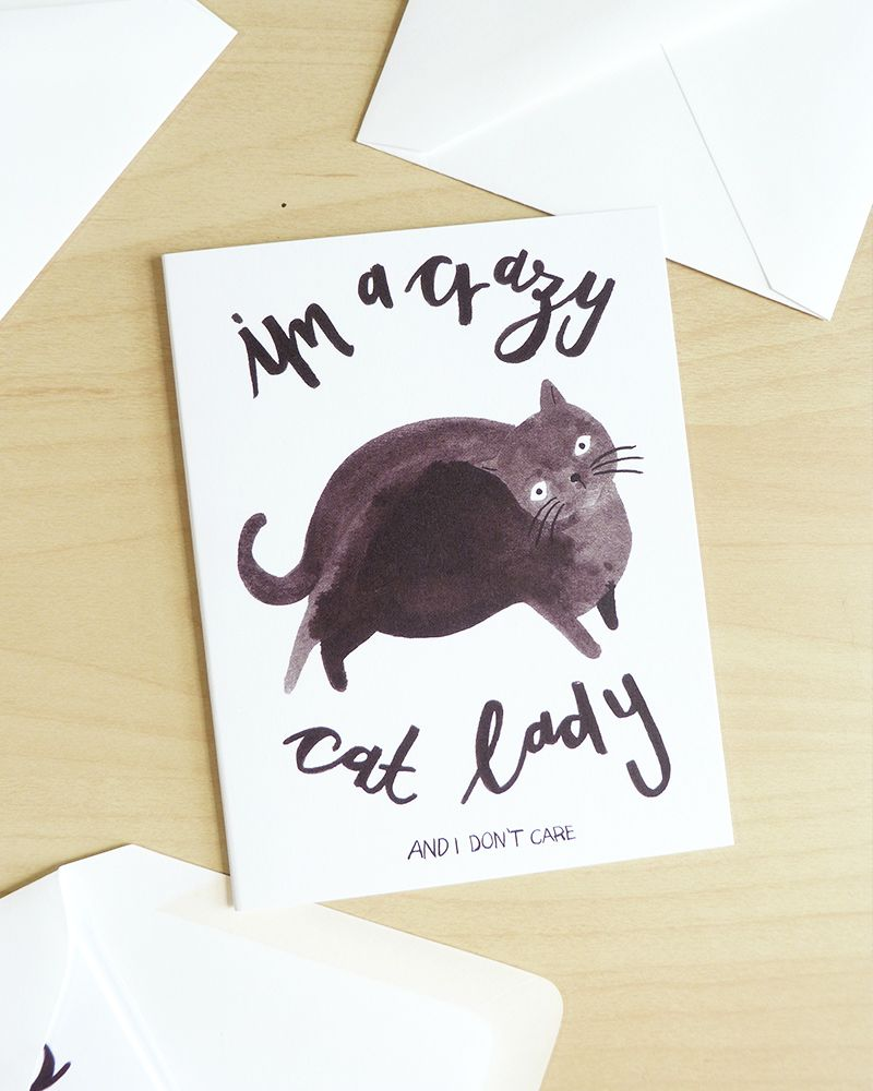 ashley le quere illustrated cat lady by @jollyedition