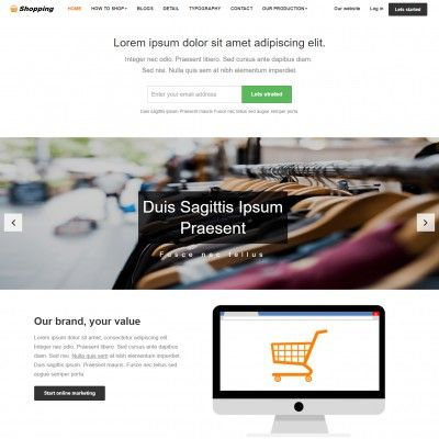 Free eCommerce Website Template | Shopping Cart | TemplateOnWeb ...