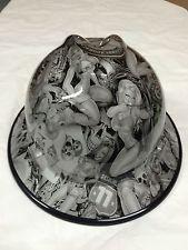 6cd82ed574c New Custom MSA Wide Brim V-Gard Hard Hat W Fas-Trac Naughty Boy Gloss NB115