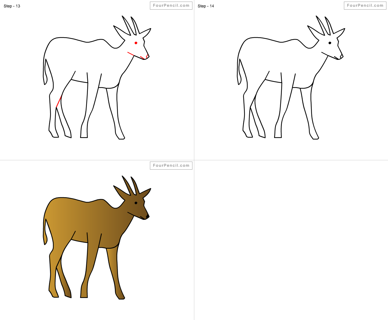 Uncategorized How To Draw A Deer For Kids how to draw antelope for kids step by drawing tutorial kids