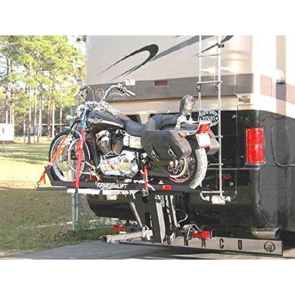 Winch Powered Rv Motorcycle Cruiser Lift Carrier Motorcycle Carrier Trailer Carrier Motorcycle
