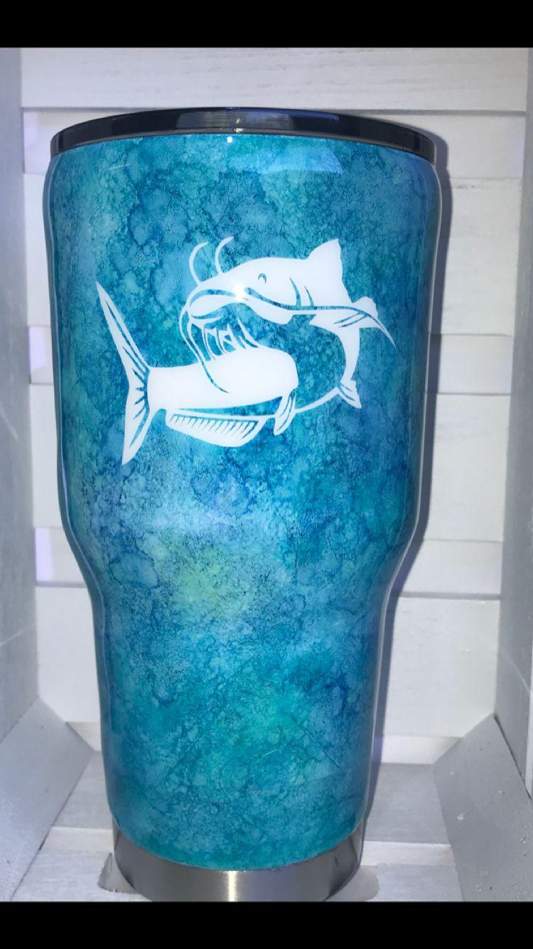 By Sea Amp D Designs Fish Tumbler Ozark Trail Alcohol Inks