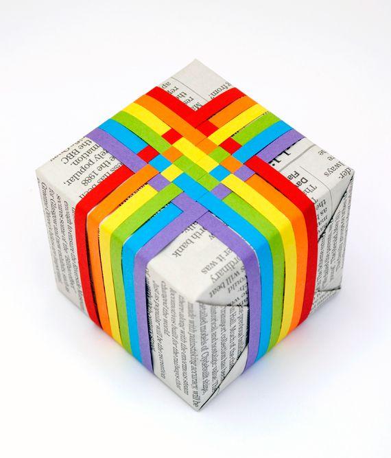 Woven paper gift ribbon