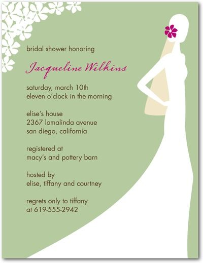 Bridal Shower Invites Sophisticated Silhouette Signature White – Wedding Paper Divas Bridal Shower Invitations