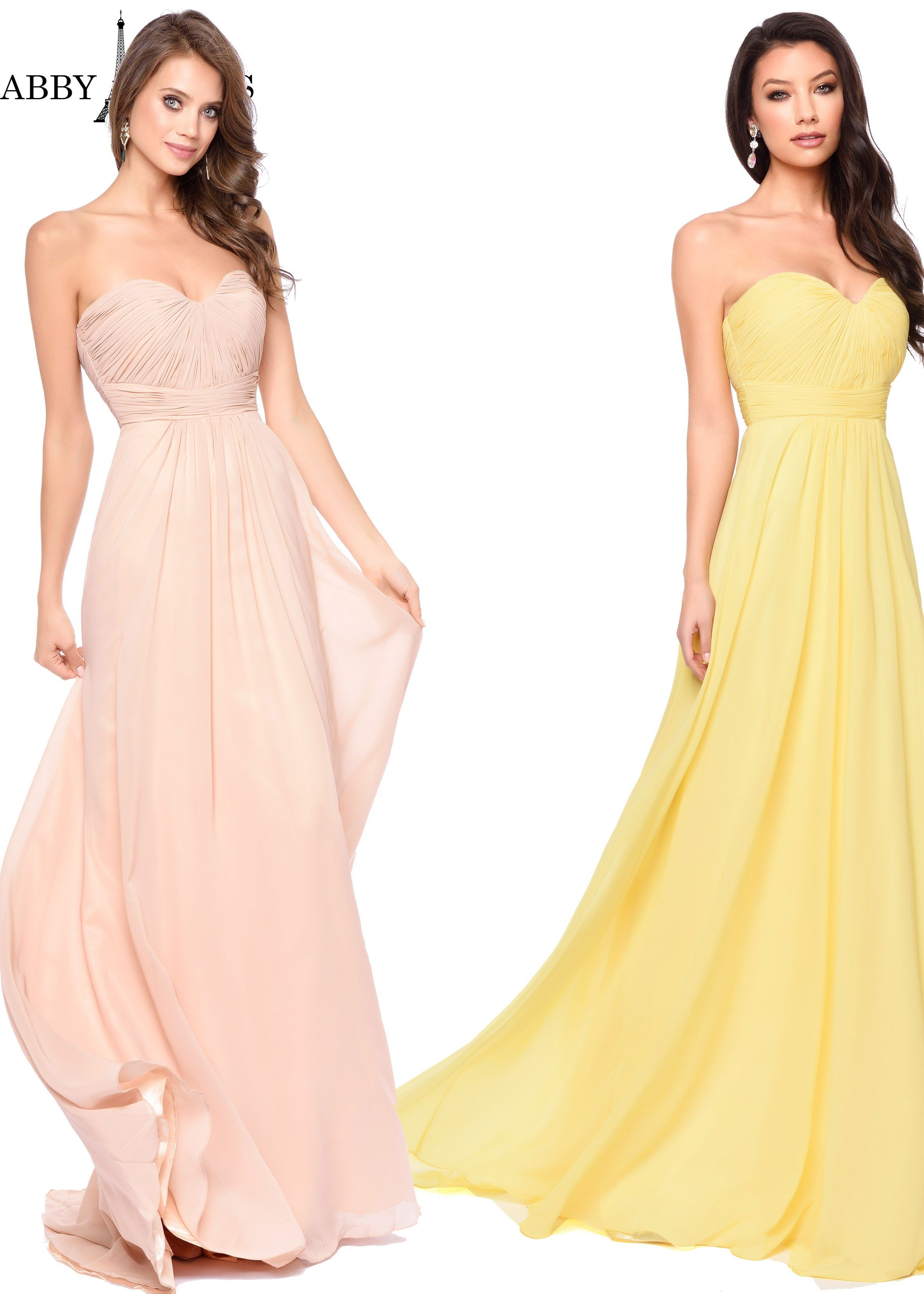 eb8265303d0 Abby Paris by Lucci Lu 93003 Strapless Chiffon Gown | The Perfect ...
