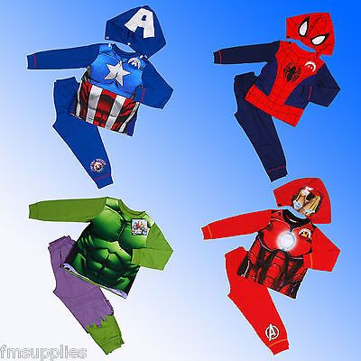 Boys official marvel super heroes #pyjamas hulk #spiderman ironman #captain ameri,  View more on the LINK: 	http://www.zeppy.io/product/gb/2/191703045637/