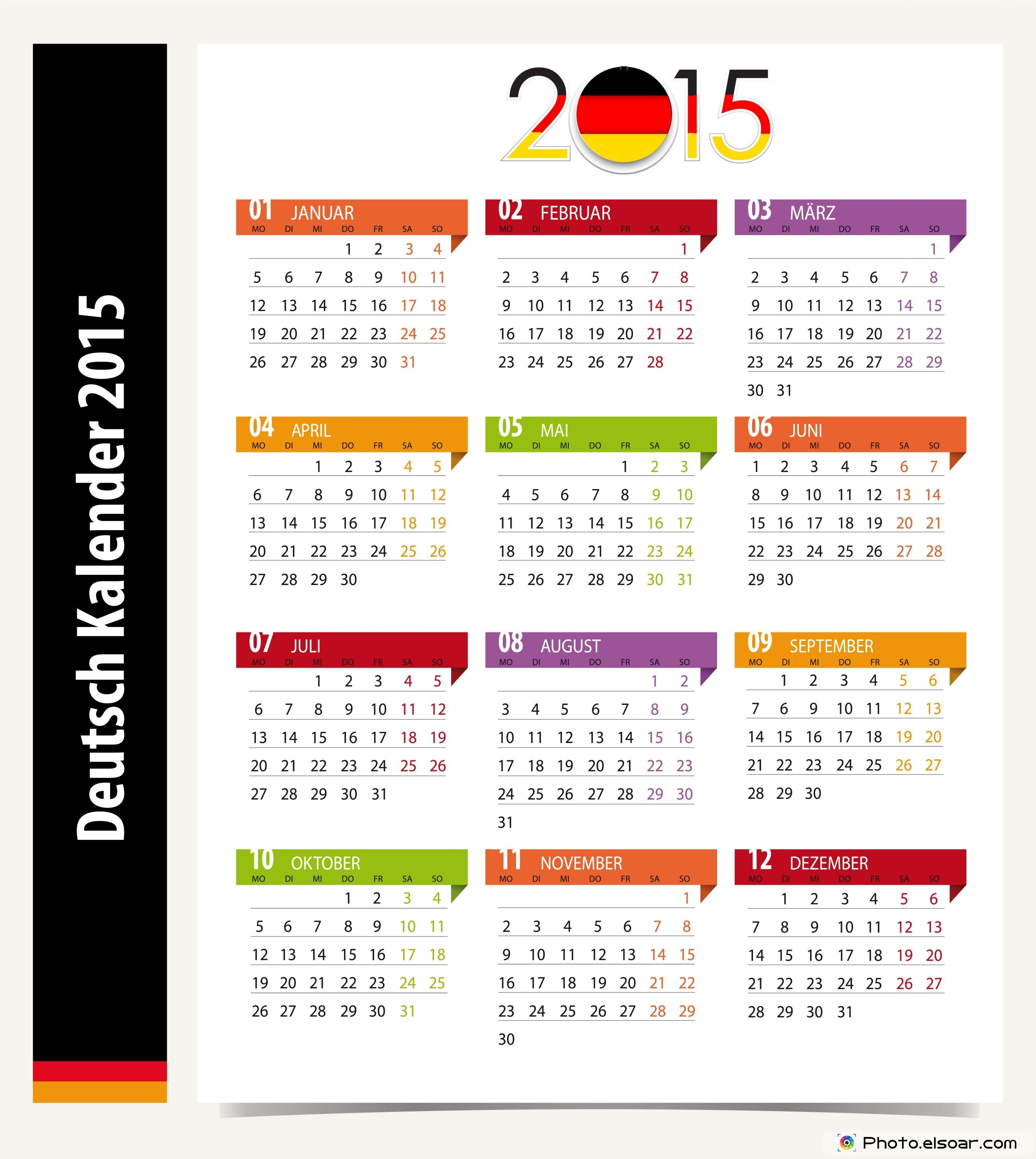 Deutsche Kalender 2015 Kostenlos Downloaden German Calendars