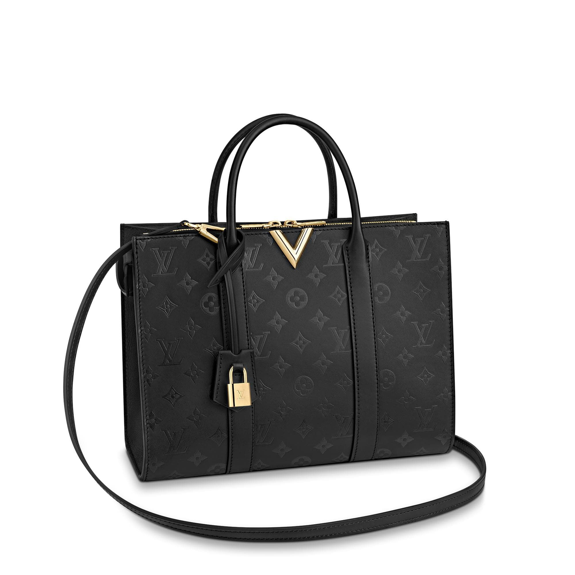 Very Zipped Tote Leather Handbags Louis Vuitton