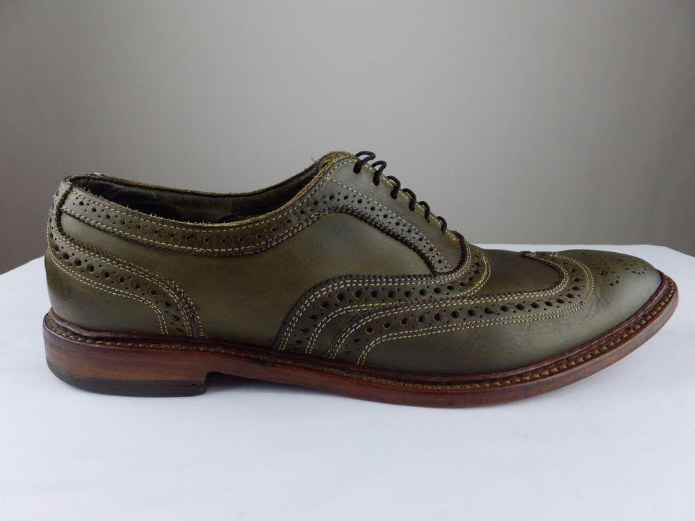 3a79cc41151 Allen Edmonds Neumok Wingtip Green Brogue Oxford Leather Shoes Men 12 D EU  46  AllenEdmonds  Oxfords