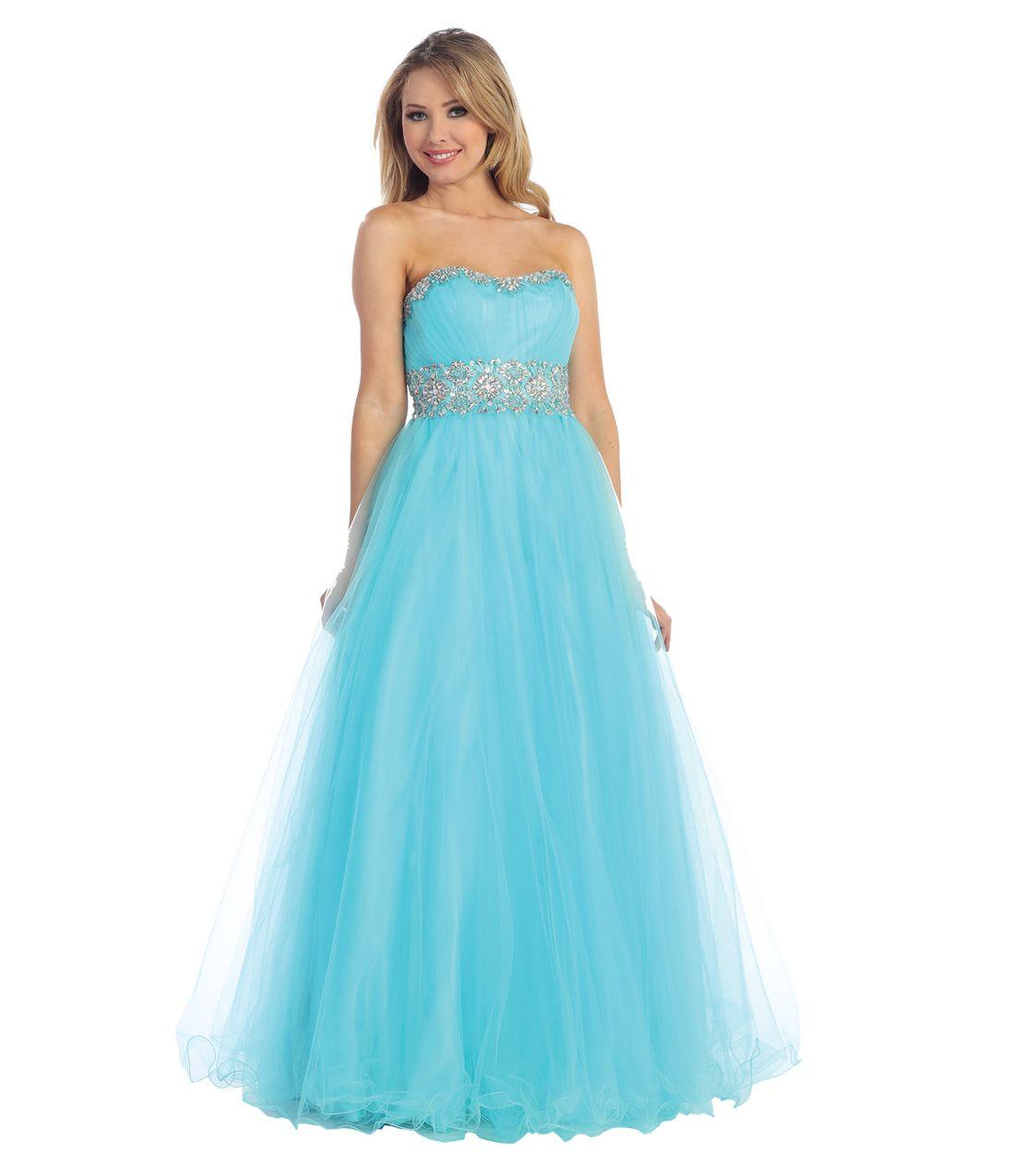 Aqua Blue Dresses