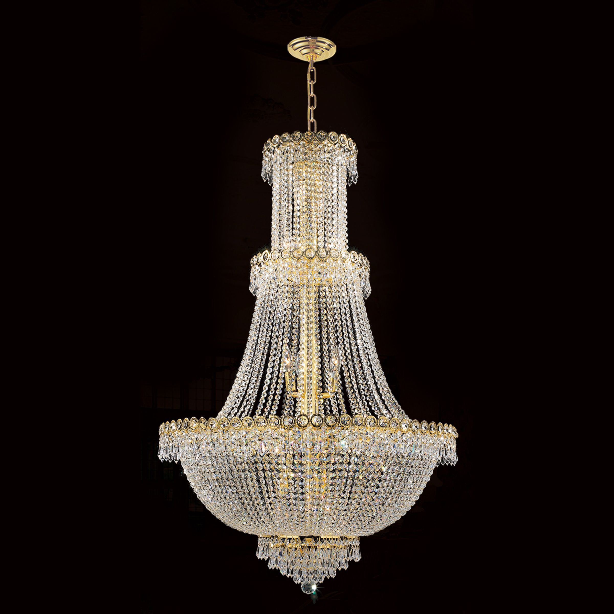 Brilliance Lighting and Chandeliers French Empire 17 Light Gold
