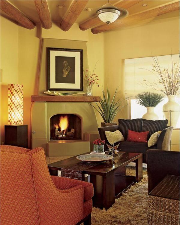 A stucco, dome-shaped fireplace... Winter Warm-Up: 9 Fireplace ...