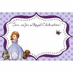 princess sofia printable on pinterest sofia the first blank for you to fill in use for invitation thank bookmarktalkfo Image collections