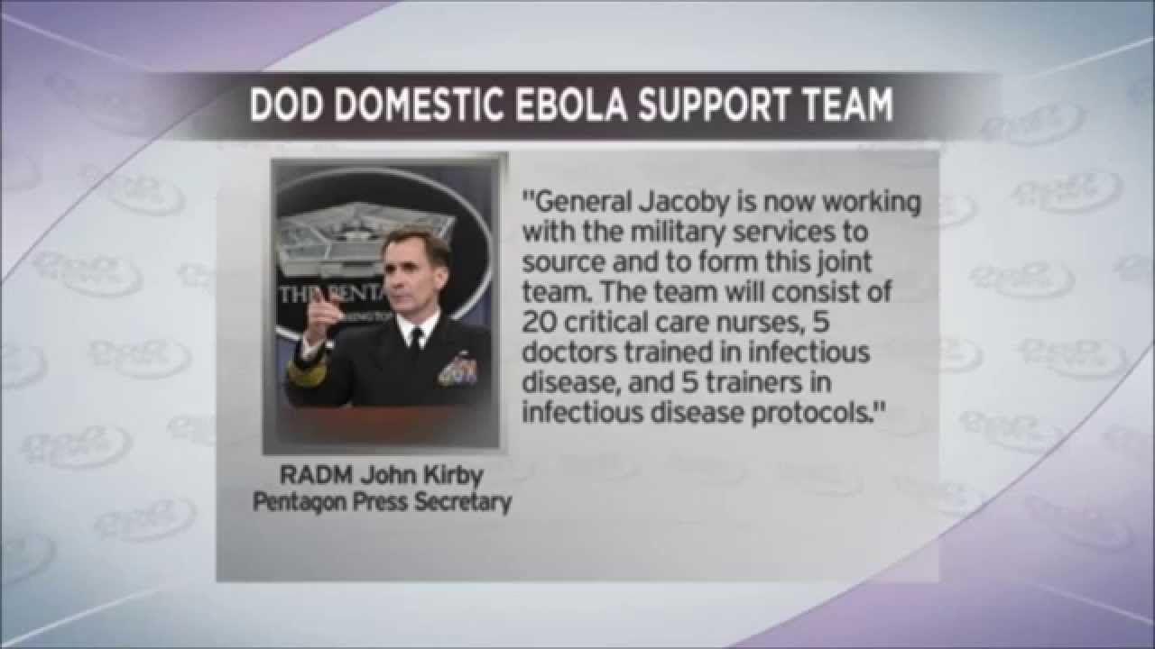 10/21/2014 Department of Defense creates Ebola MILITARY