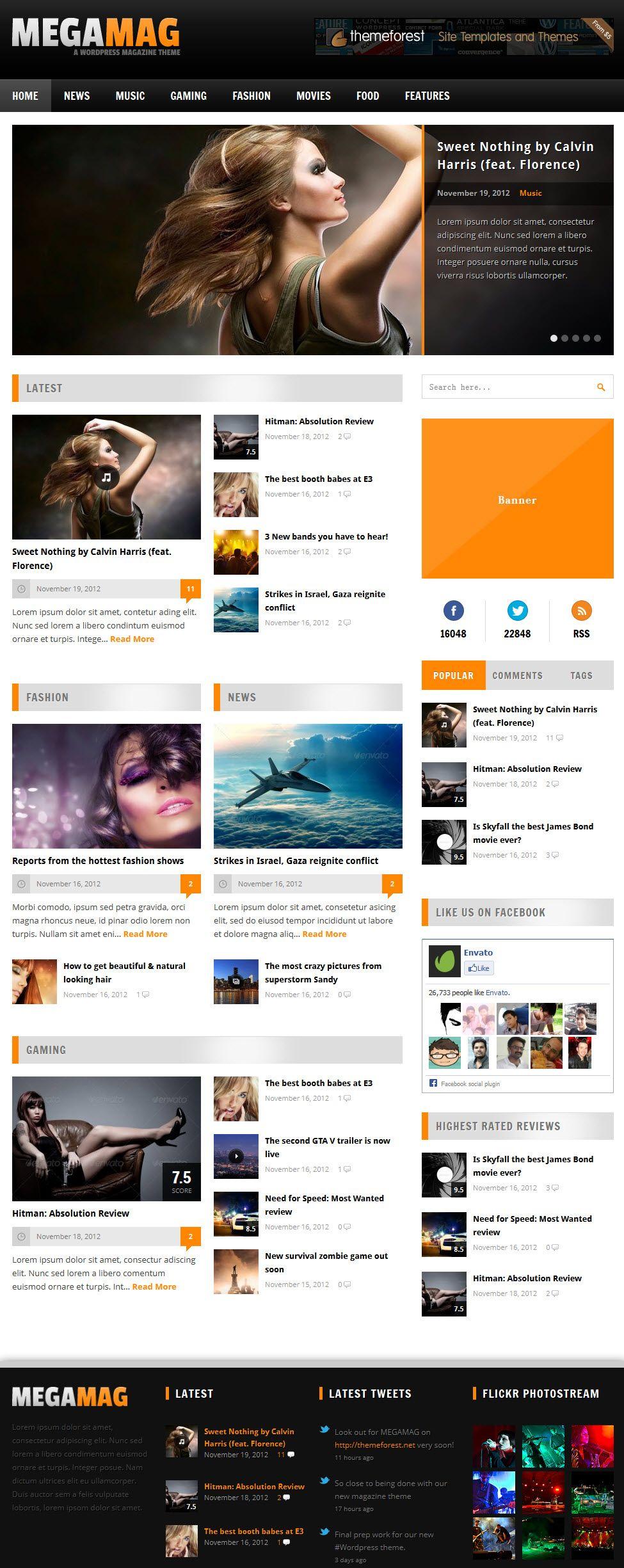 Megamag Magazine Theme Highlighting Comment Box Magazine Theme Wordpress Free Wordpress Themes Premium Wordpress Themes