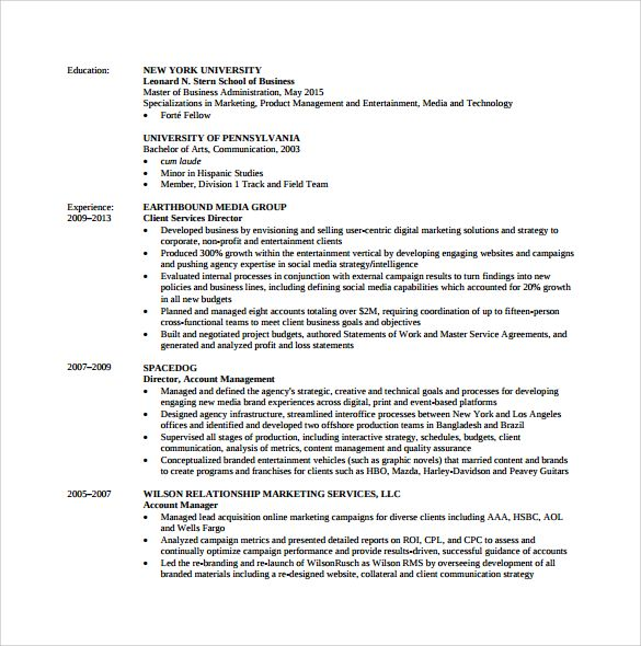 Mba Resume Templates Download Free Documents Pdf Psd Deadly Sins