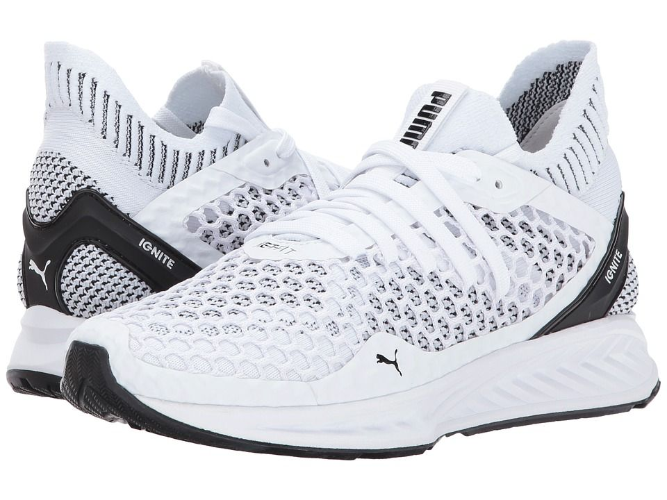 PUMA PUMA - IGNITE NETFIT (PUMA WHITE/PUMA BLACK) WOMEN'S SHOES. #