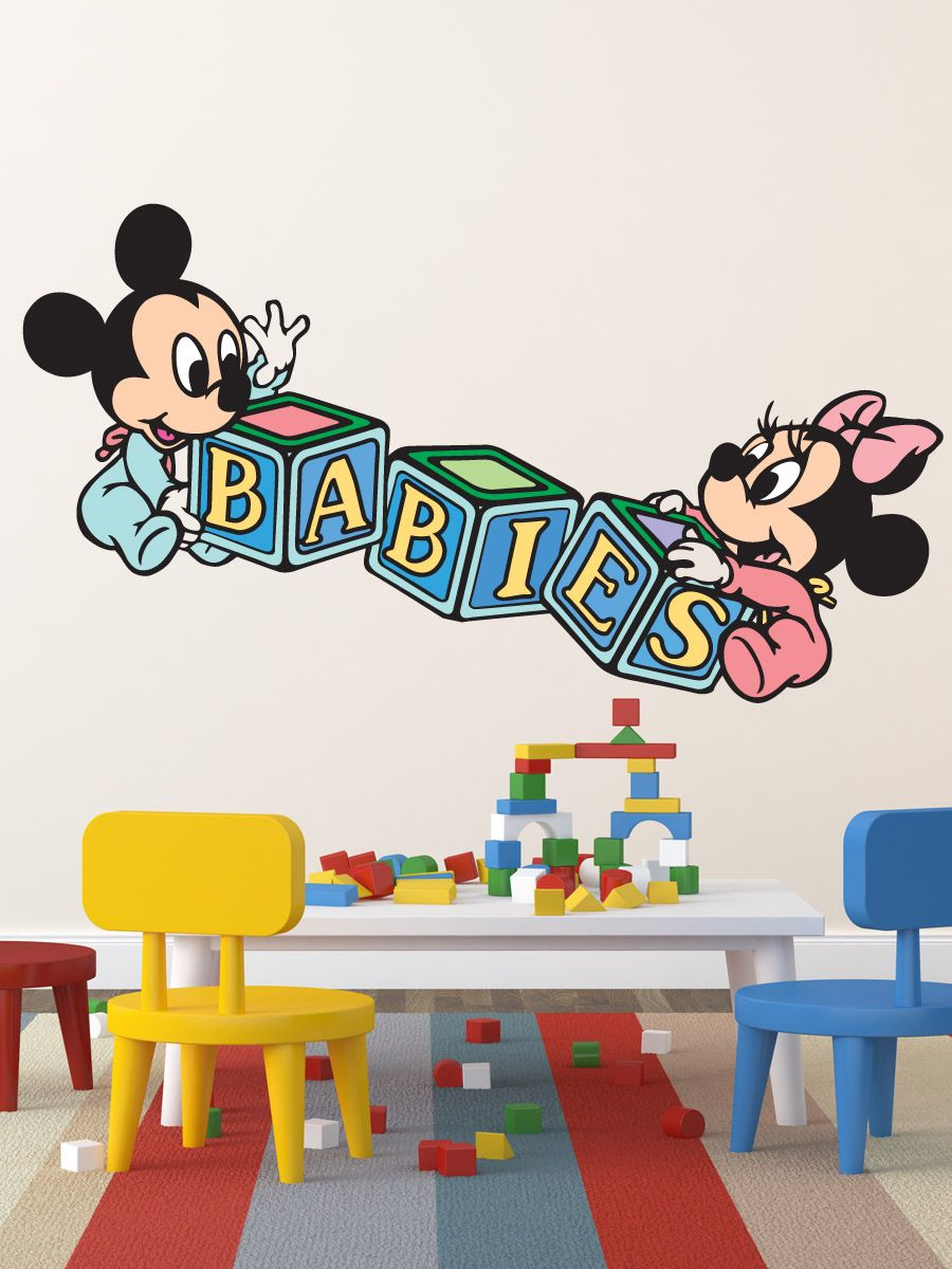 Baby mickey mouse wall stickers peenmedia baby mickey mouse wall stickers amipublicfo Image collections