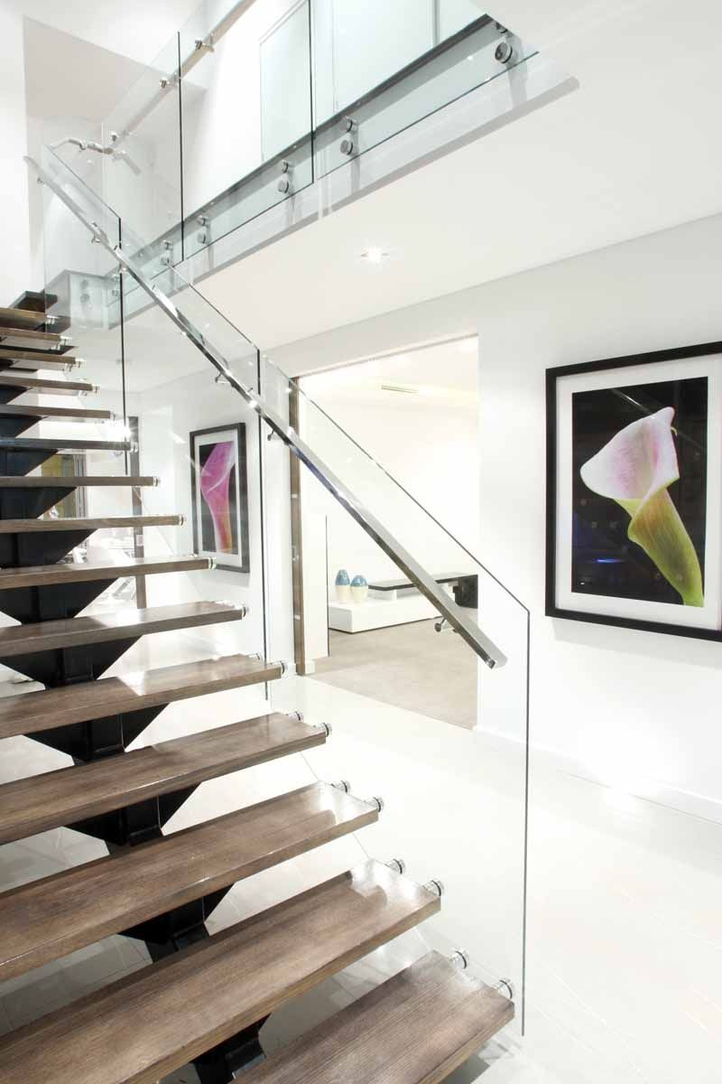 Spine Staircase Contemporary stairs, Custom home