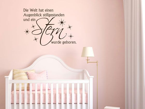 wandtattoo kinderzimmer zitat f r kinderzimmer ber geburt wanddeko f r kinderzimmer. Black Bedroom Furniture Sets. Home Design Ideas