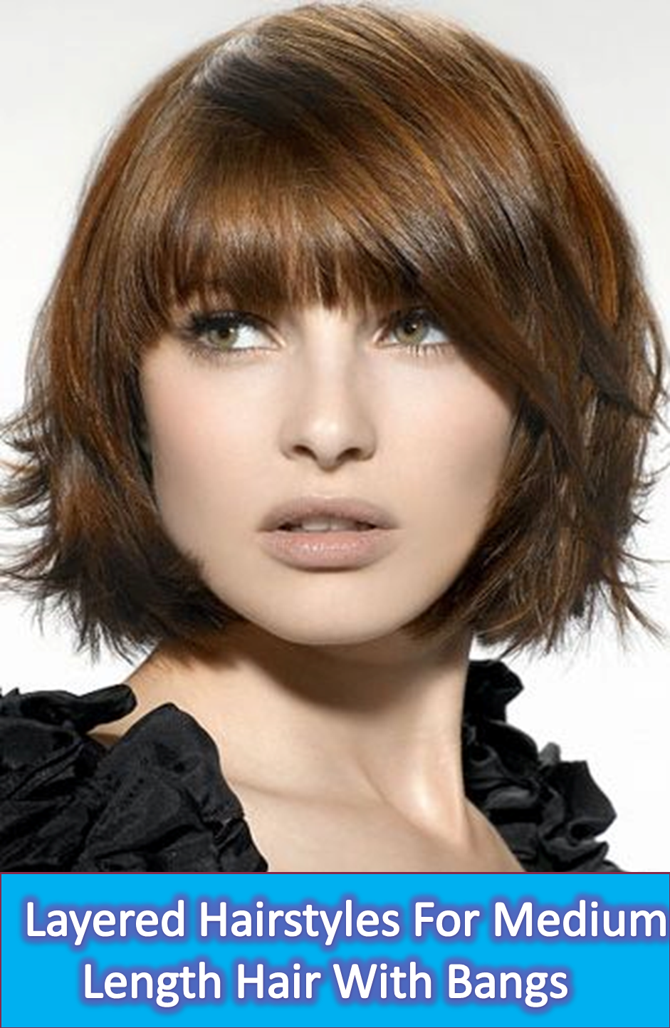 get a haircut me layered hairstyles for medium length hair with bangs 2699