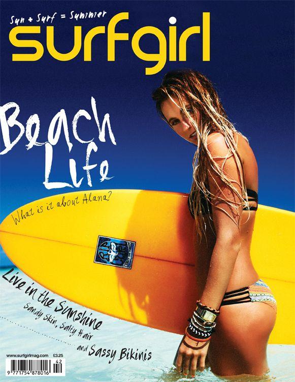 Alana Blanchard in the Tiki Goddess swim shot by Mandleberg on the cover of Surf Girl Magazine! Hot!