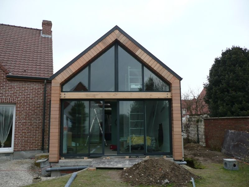 Extension bois maison beauvais 60 home en 2019 extension maison extension maison bois et - Photo extension maison ...