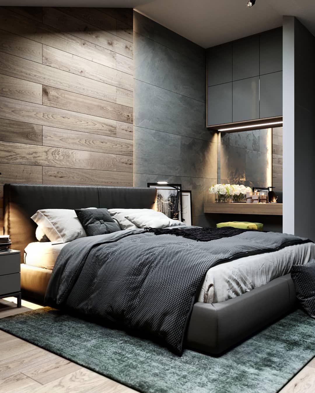 СТУДИЯ ДИЗАЙНА   Men's bedroom design, Bedroom interior ...