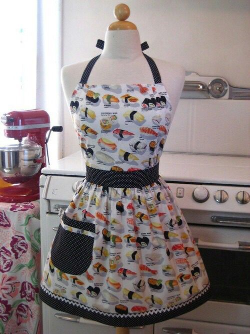 Collection of Sushi print on an apron art