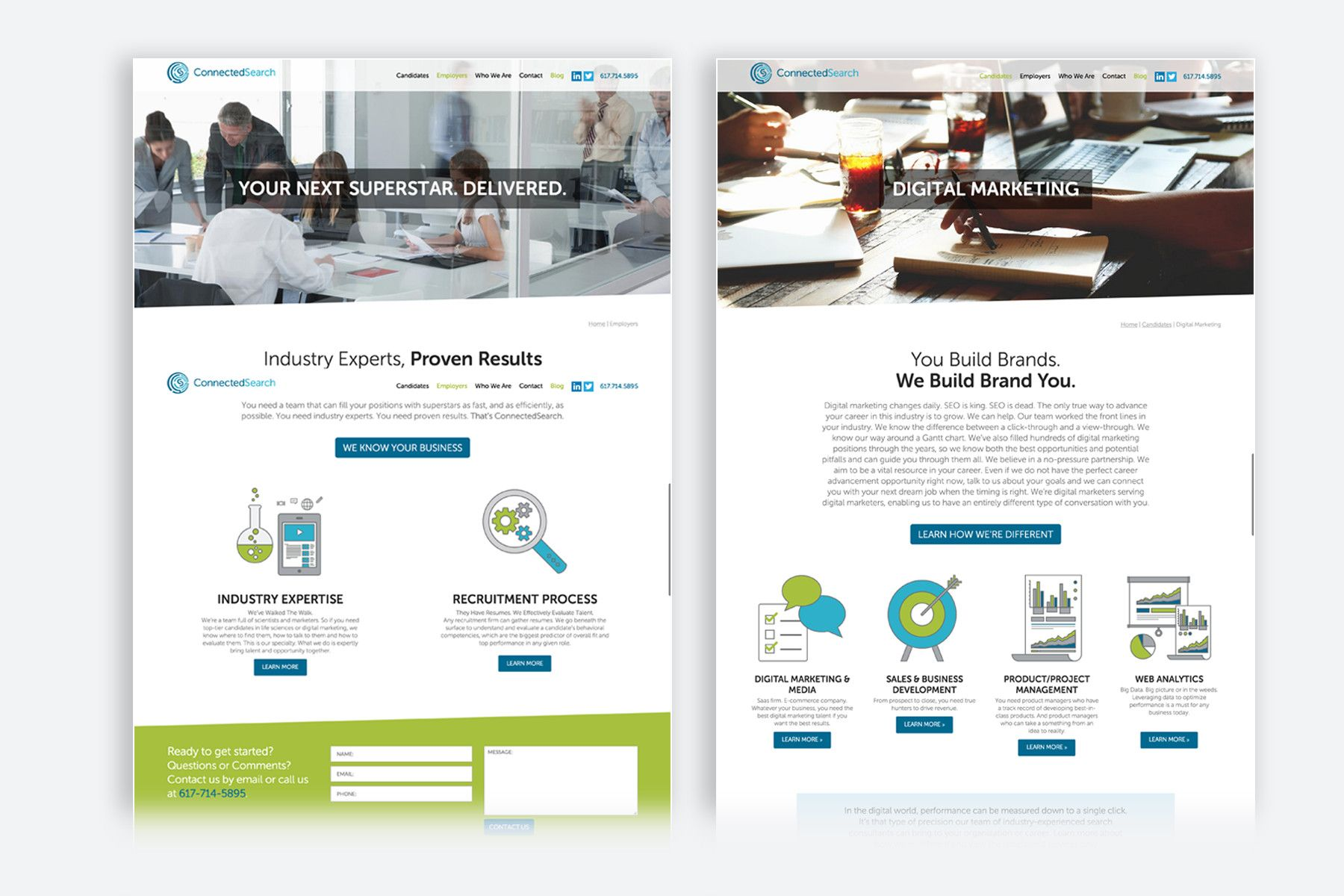 ConnectedSearch Website Design