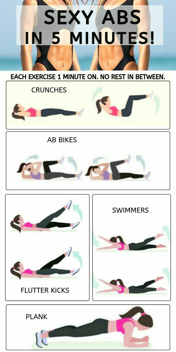 5 Minutes To Sexy Abs Home Workout