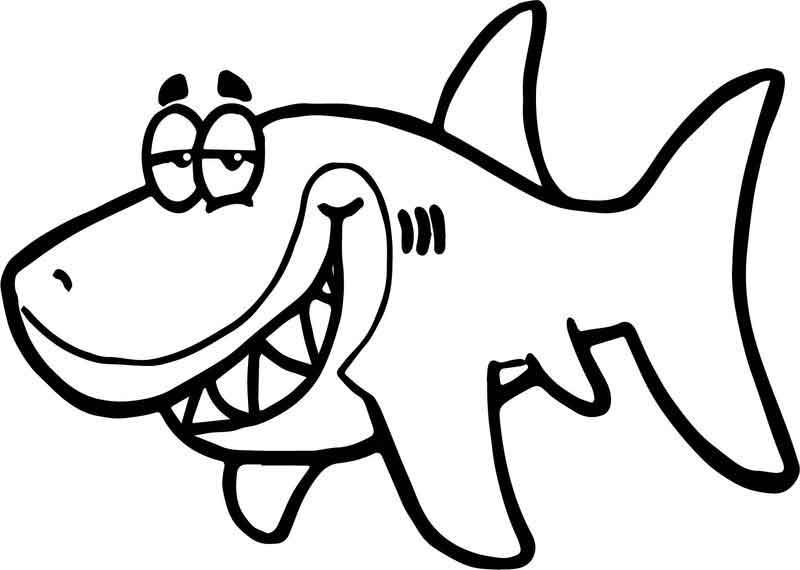 Cartoon Shark Funny Fish Paper Invitation Underwater Coloring Page Shark Coloring Pages Coloring Pages Inspirational Coloring Pages