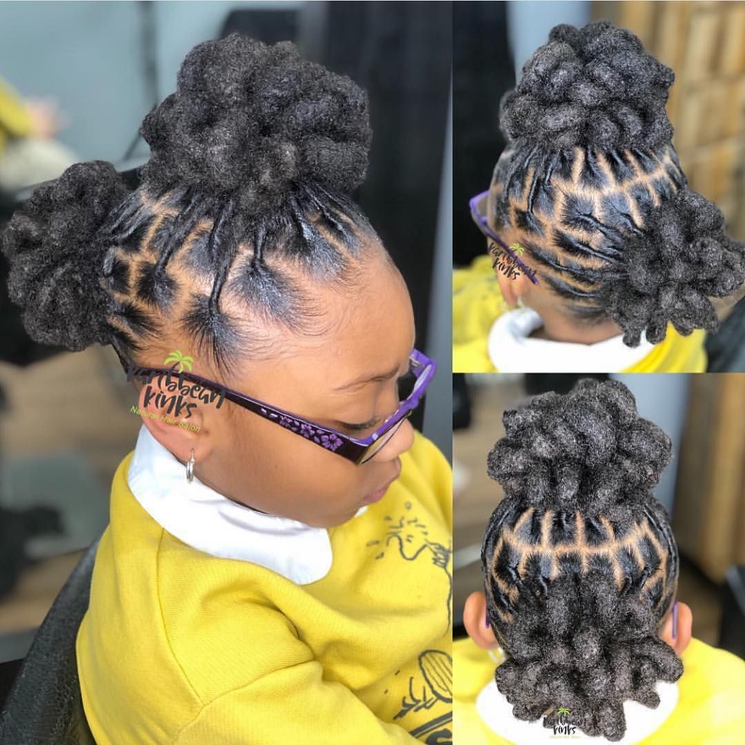 Little Girls With Locs All Of These Styles Are So Pretty By Janai Stylez Voiceofhaircar Natural Hair Styles Short Locs Hairstyles Dreadlock Hairstyles Black