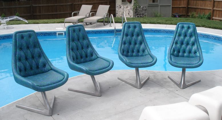 Marvelous Sculpta Chromcraft Unicorn Chairs   Set Of 4