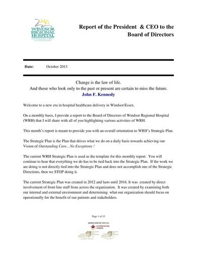 Ceo Report To Board Of Directors Template 1 Templates Example Templates Example In 2021 Board Report Report Template Board Of Directors