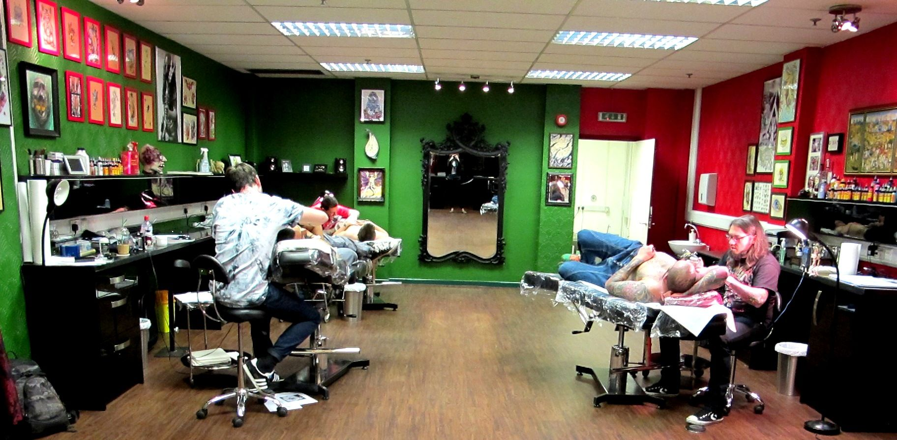 Tattoo shop tattoo designs images for Green room birmingham
