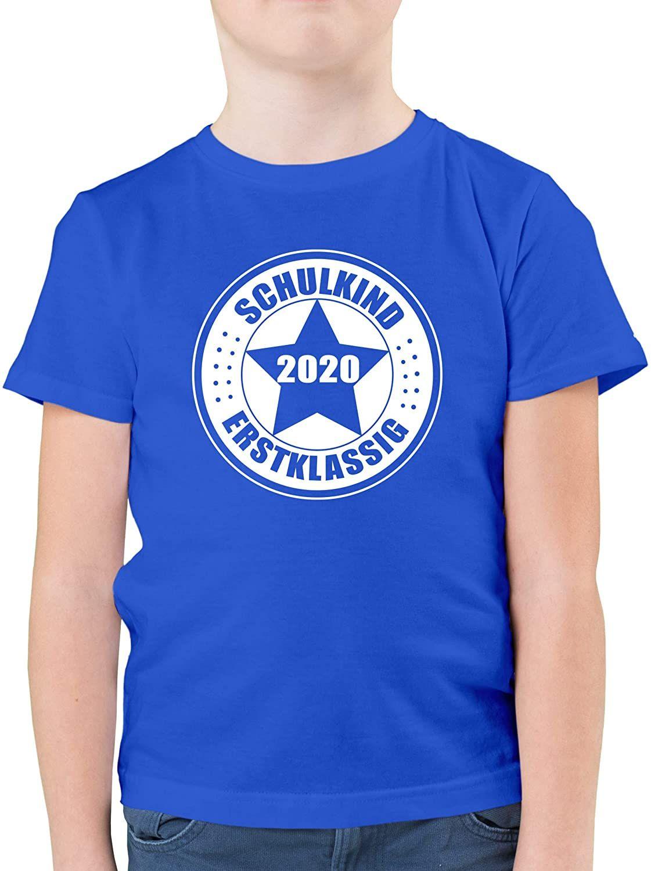 Einschulung Und Schulanfang Schulkind 2020 Erstklassig Kinder Tshirts Und T Shirt Fur Jungen Schulkinder T Shirt Shirts