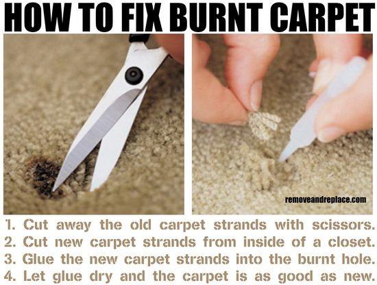 How To Repair A Burn Mark From Carpet The Easy Method How To Clean Carpet Carpet Cleaning Hacks Carpet Repair