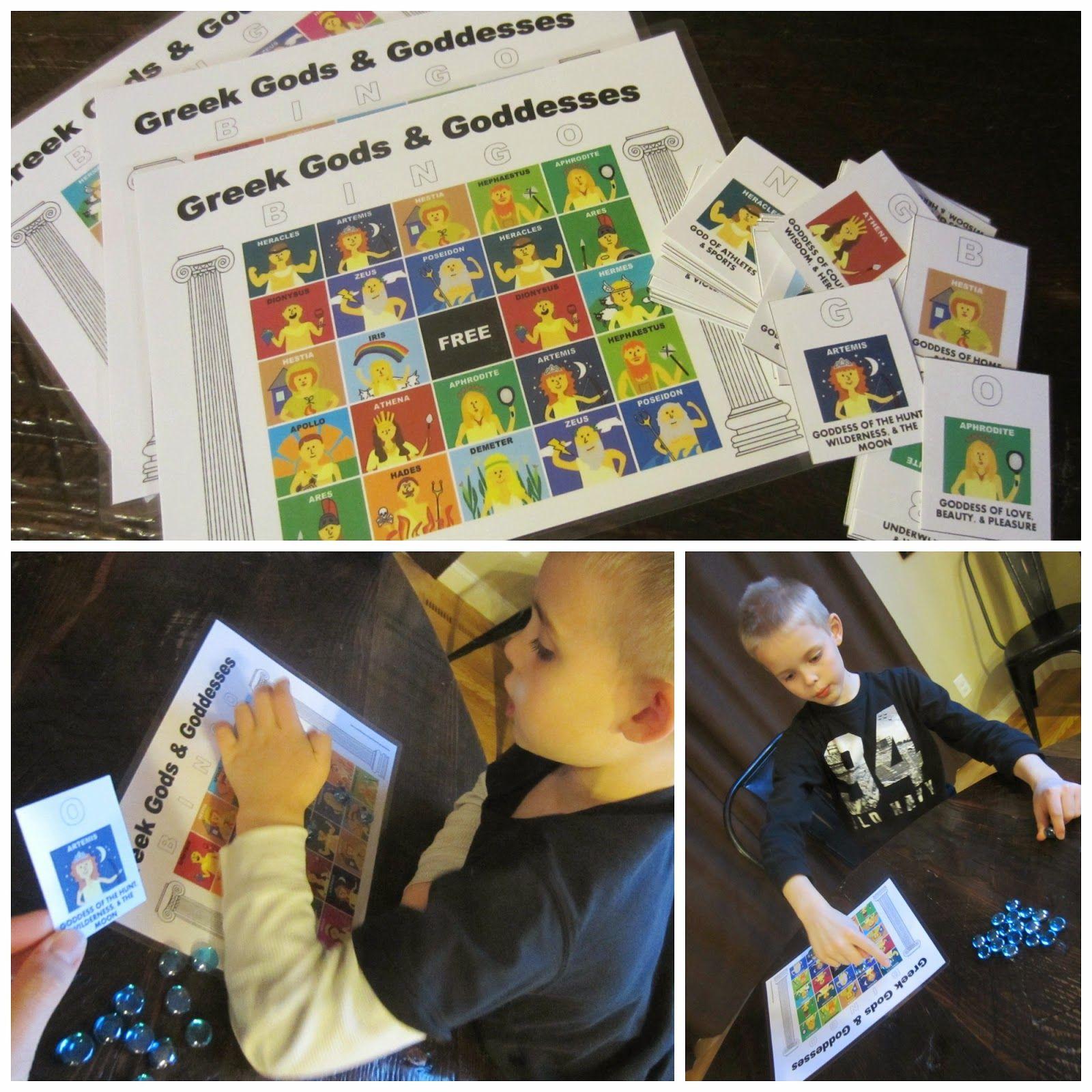 Greek Gods And Goddesses Bingo Free Printable In