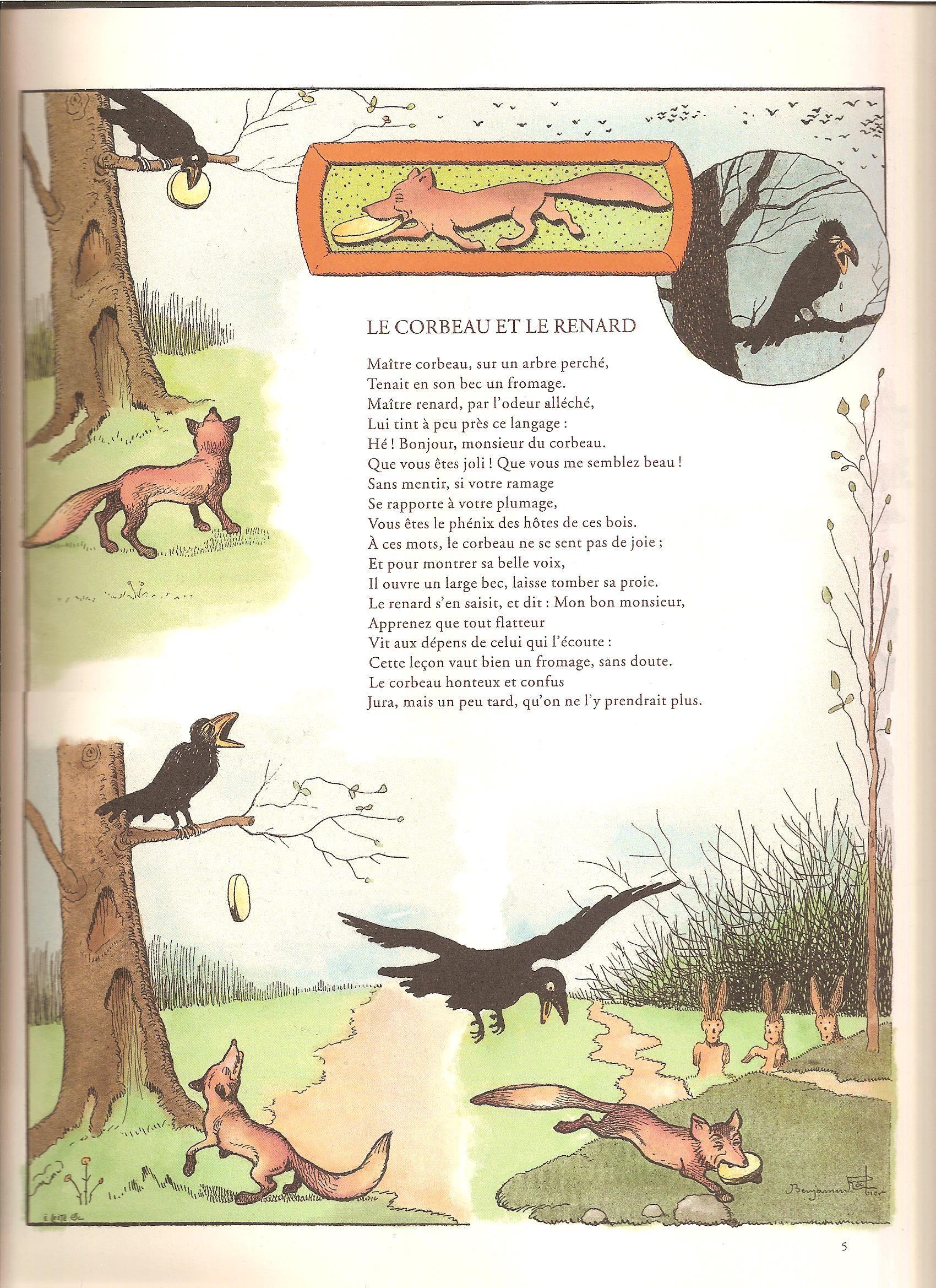 Le livre 'Fables de La Fontaine' de Benjamin Rabier est ...