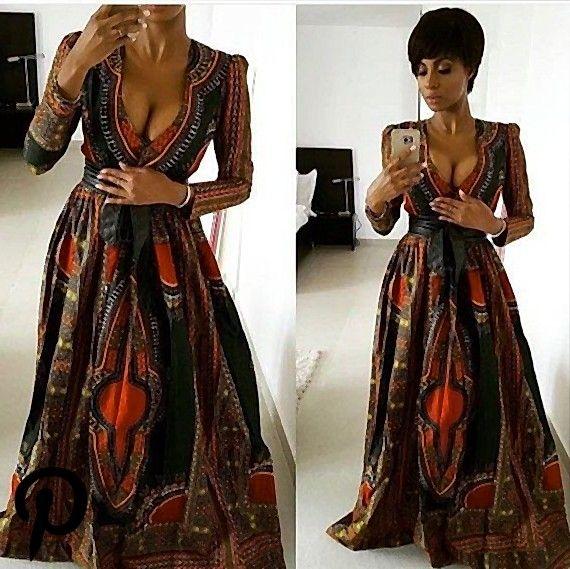 bedruckte Ballkleider afrikanisches Printoutfit afrikanisch inspirierte Mode afrikanisches Kleid afr #afrikanischeskleid
