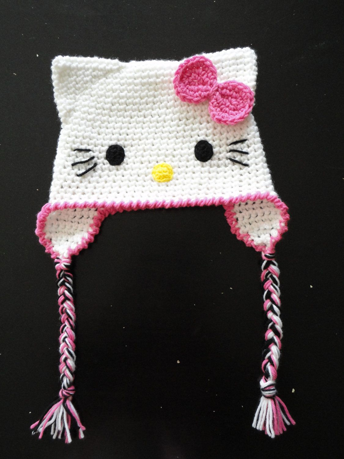 Crochet Hello Kitty Hat by ContrarywiseDesigns on Etsy ...