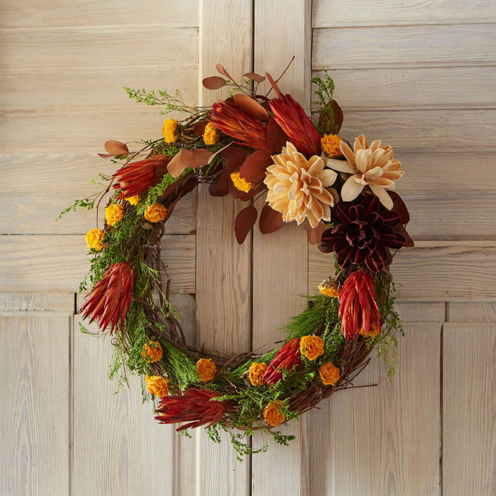 Dried Floral Grapevine Wreath