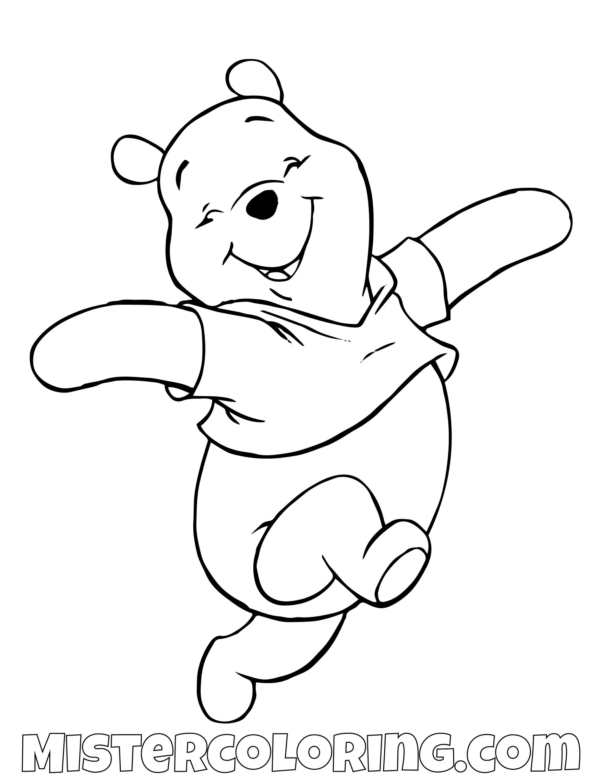Winnie The Pooh Coloring Pages For Kids Mister Coloring Disney Coloring Pages Winnie The Pooh Drawing Bear Coloring Pages
