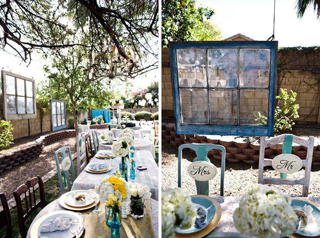Real Wedding: Catie + Ben's Vintage Inspired Backyard Wedding