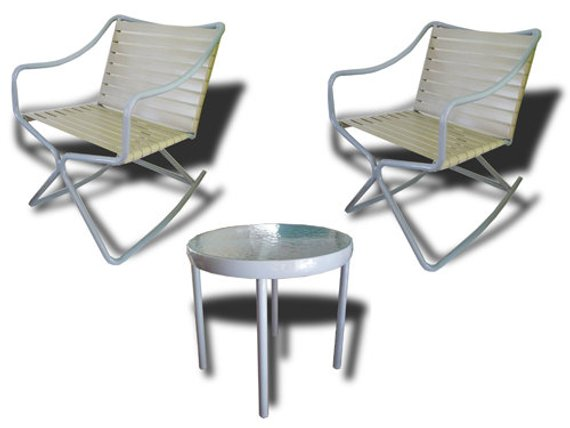 Swell Set Of Brown Jordan Kailua Rockers And Table By Hal Bradley Pabps2019 Chair Design Images Pabps2019Com