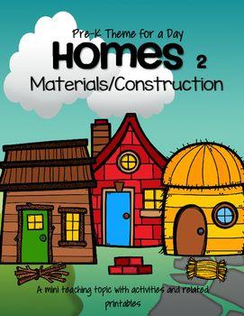 Homes Unit 2 Building Materials Preschool And Pre K Early