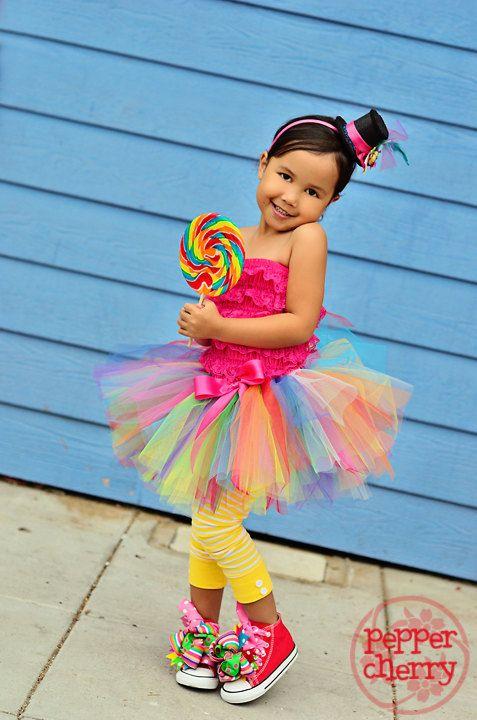 Girls Kids Childs Circus Clown Girl Fancy Dress Costume Halloween Outfit 1-5 Yrs