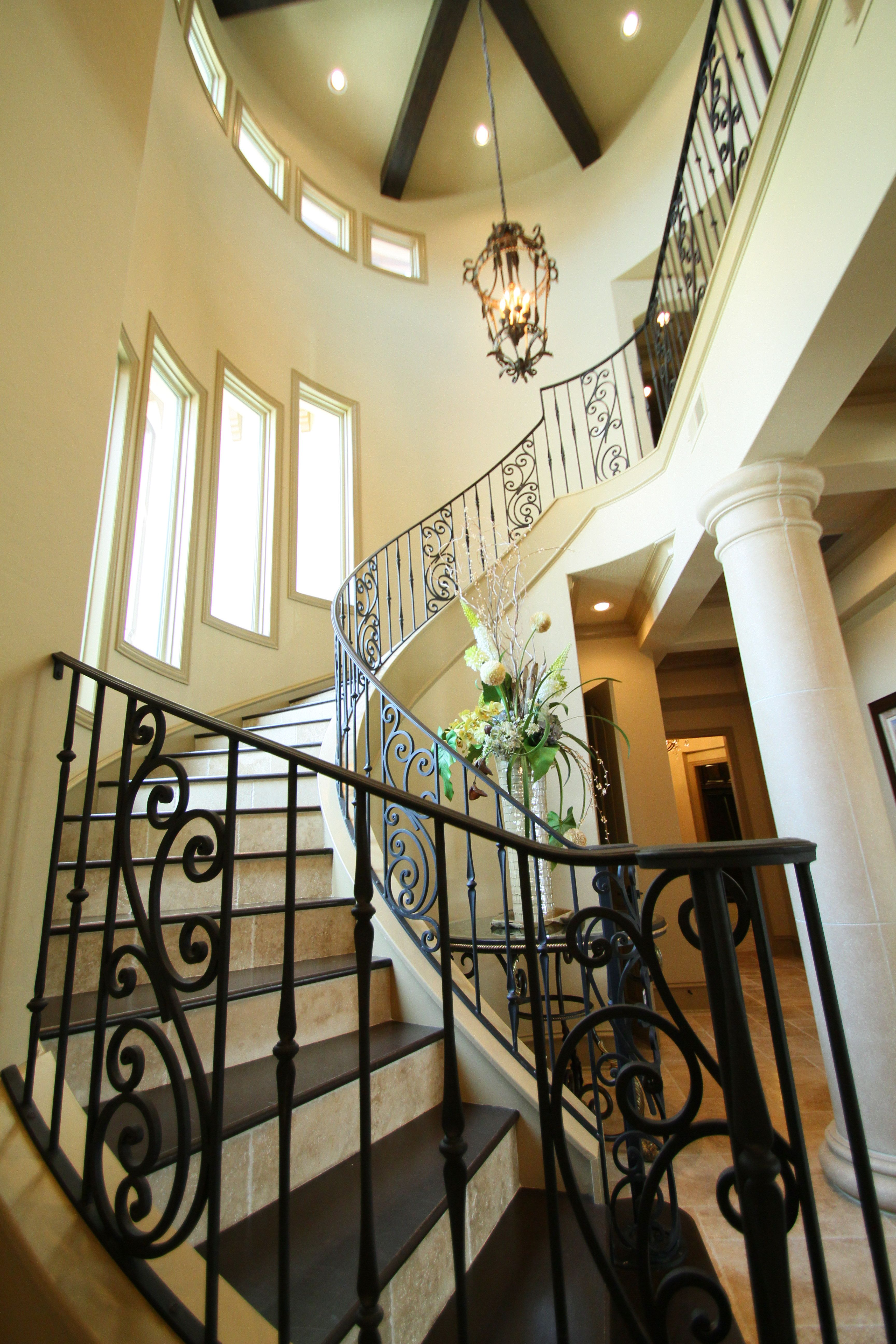 interior inspiring marvelous italian villa interior design this half spiral staircase leads to the second floor of a luxury italian mediterranean style home