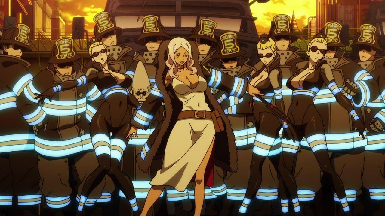 Fire force anime wallpaper art fireforce anime art